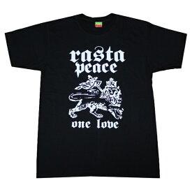 レゲエ Tシャツ RASTA PEACE bk017 黒 [ レゲエ tシャツ ラスタ / メンズ / レゲエ Tシャツ / REGGAE / RASTA / ダンス / ヒップホップ / ストリート / サーフ / メール便可 / あす楽 ]