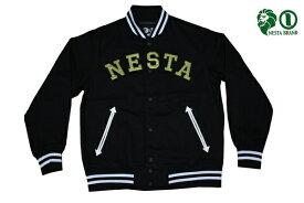 NESTA ジャケット NESTA STADIUM JKT J1503SP BLK ブラック 【 ネスタ ジャケット / メンズ アウター / レゲエ / ストリート / B系 / スケーター / ネスタ / NESTABRAND / スタジアムジャケット / あす楽 】