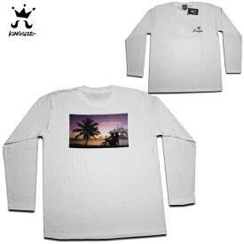 KINGSIZE 長袖Tシャツ STICK BY ME L/S TEE WHT KSAW17-T06 【 2017 キングサイズ ロンT / メンズ 長袖 / レゲエ / B系 / スケーター / あす楽 】