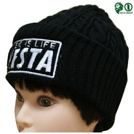 NESTA ニットキャップ ケーブルニット帽 173NB8705 BLK ブラック 【 ネスタ ニットキャップ / ニット帽 CAP / メンズ ニットCAP / ケーブル / ストリート / スケーター / ネスタブランド / 帽子 / NESTABRAND / あす楽 】