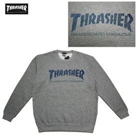 THRASHER トレーナー UNICURSAL MAG CREW SWEAT TH94207 GRY グレー 【 2017 メンズ トレーナー / スラッシャー スウェット / スケーター / ストリート / サーフ / スケート / スラッシャー 長袖 / レゲエ / あす楽 】