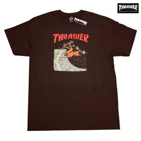 THRASHER Tシャツ NECKFACE INVERT TEE BRN 311198 ブラウン 【 2018 メンズ / スラッシャー Tシャツ / スケーター / ストリート / サーフ / スケート / スラッシャー 半袖 / レゲエ / メール便可 / あす楽 】