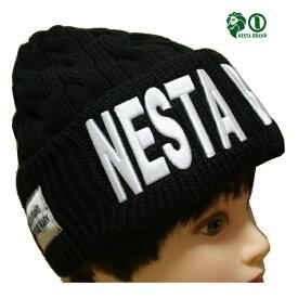 NESTA ニットキャップ 3D刺繍ニットキャップ 183NB8700 BLK ブラック 【 2018 ネスタ ニットキャップ / ニット帽 CAP / メンズ ニットCAP / ストリート / スケーター / ネスタブランド / 帽子 / NESTABRAND / あす楽 】