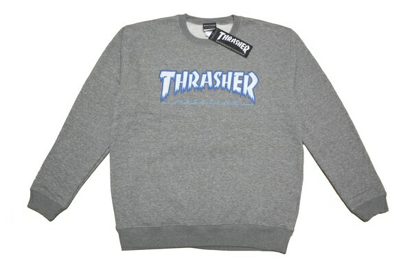 THRASHER トレーナー HOMETOWN ICE CREW SWEAT GRY TH84226 グレー 【 2018 メンズ トレーナー / スラッシャー スウェット / スケーター / ストリート / サーフ / スケート / スラッシャー / レゲエ / あす楽 】