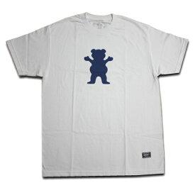 GRIZZLY Tシャツ GRIZZLY OG BEAR S/S TEE WHT vigr19104 ホワイト 【 2019 グリズリー Tシャツ / メンズ Tシャツ /スケーター スケボー スケートボード/ B系 / メール便可 / あす楽 】