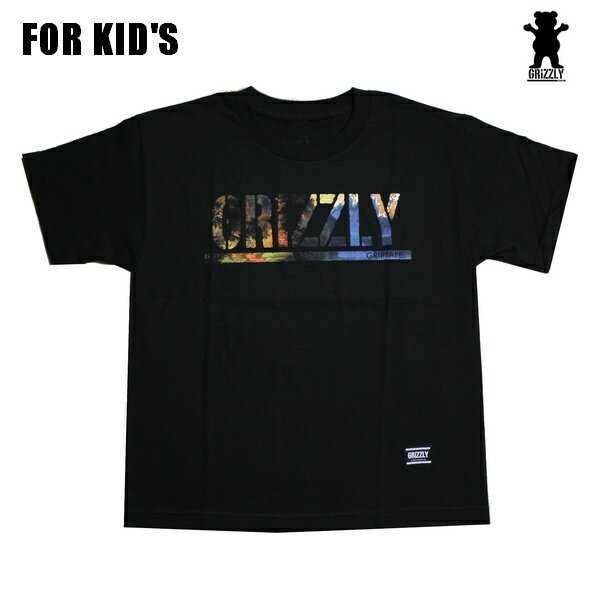 GRIZZLY キッズ Tシャツ ユースサイズ ジュニア GRIZZLY STAMPED SCENIC YOUTH TEE BLK vigr191116 【 2019 グリズリー Tシャツ / タイダイ ジュニア キッズ Tシャツ / 小学校 中高学年 / スケーター スケボー スケートボード/ B系 / メール便可 / あす楽 】