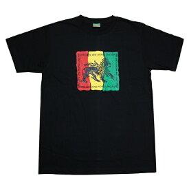 ラスタTシャツ RASTA × ONE LOVE BLK ブラック bk056 【 メンズ Tシャツ / ラスタ レゲエ / REGGAE / RASTA / ダンス / HIPHOP / ジャマイカ / ストリート / スケーター / サーフ / メール便可 / あす楽 】
