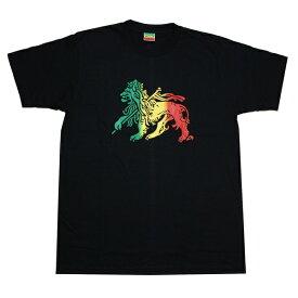 ラスタTシャツ RASTA LION BLK ブラック bk064 【 メンズ Tシャツ / ラスタ レゲエ / REGGAE / ダンス / HIPHOP / ジャマイカ / ストリート / スケーター / サーフ / メール便可 / あす楽 】