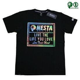 NESTA Tシャツ スペクトル レインボー ロゴTee BLK 192NB1010 ブラック 【 2019 Tシャツ / ネスタ Tシャツ / メンズ / ラメ / レゲエ / B系 / スケーター / ネスタブランド / NESTABRAND / メール便可 / あす楽 】