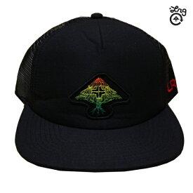 LRG メッシュキャップ ROCK UNSTEDY TRUCKER HAT BLK Y192534 ブラック 【 2019 lrg メッシュ キャップ / エルアールジー / メンズ / スケーター / レゲエ ラスタ / CAP / 帽子 / スナップバック / あす楽 】