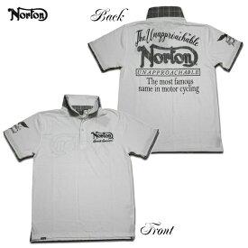 Norton ポロシャツ LIMITED ポロ 192N1250 ホワイト WHT 【 2019 ポロシャツ / ノートン ポロ / メンズ 半袖 グレンチェック / バイカー / バイク / メール便可 / あす楽 】