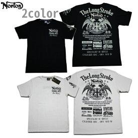 Norton Tシャツ LIMITED TEE 192N1050 ブラック ホワイト 【 2019 Tシャツ / ノートン Tシャツ / メンズ 半袖 / バイカー / バイク / メール便可 / あす楽 】