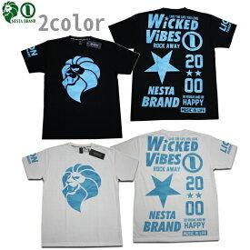 NESTA Tシャツ LIMITED DRY BLUE BIG STAR Tee 192NB1054 ブラック ホワイト 【 2019 Tシャツ / ネスタ Tシャツ / メンズ / ドライ / レゲエ / B系 / スケーター / ネスタブランド / NESTABRAND / メール便可 / あす楽 】