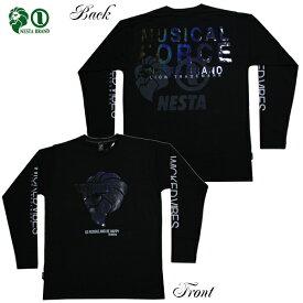 NESTA 長袖Tシャツ レインボーノイズロゴ 193NB1103 BLK ブラック 【 2019 ネスタ 長袖Tシャツ / メンズ ロンT / レゲエ / B系 / スケーター / ネスタブランド / NESTABRAND / あす楽 】