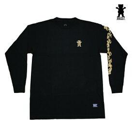 GRIZZLY 長袖Tシャツ GRIZZLY GOLD LEAF L/S TEE BLK vigr193118 ブラック 【 2019 グリズリー 長袖Tシャツ / メンズ ロンT /スケーター スケボー スケートボード/ B系 / メール便可 / あす楽 】