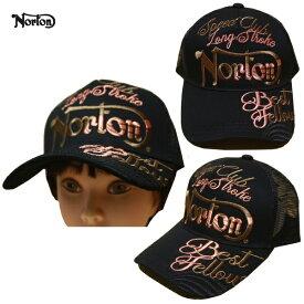 Norton メッシュキャップ 3D刺繍MAX 193N8708 ブラック BLK 【 ノートン キャップ / メンズ CAP /刺繍 帽子 メッシュ / バイカー / バイク / ストリート / あす楽 】