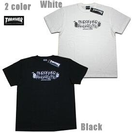 THRASHER Tシャツ Por Vita S/S TEE TH91120 ホワイト ブラック 【 2020 メンズ Tシャツ / スラッシャー Tシャツ / スケーター / ストリート / サーフ / スケート / スラッシャー 半袖 / レゲエ / メール便可 / あす楽 】