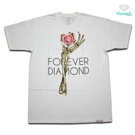 Diamond Supply Tシャツ DIAMOND HEART OF TEE S/S TEE vidm201d214 WHT ホワイト 【 2020 ダイヤモンドサプライ Tシャツ / メンズ 半袖 / レゲエ / B系 / スケーター / メール便可 / あす楽 】