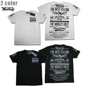 Norton Tシャツ リミテッド 吸水速乾 202N1050 ホワイト WHT 【 2020 Tシャツ / ノートン 半袖 / メンズ / バイカー / バイク / メール便可 / あす楽 】