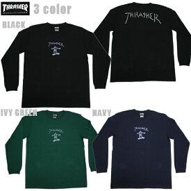 THRASHER 長袖Tシャツ GONZ L/S TEE TH8328 ブラック IVY GREEN NAVY 【 2020 メンズ 長袖Tシャツ / スラッシャー ロンT / スケーター / ストリート / サーフ / スケート / スラッシャー 長袖 / レゲエ / メール便可 / あす楽 】