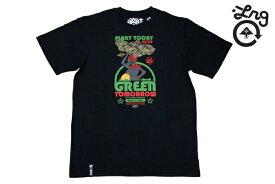 SALE メリマ価格 LRG Tシャツ GREEN TOMORROW TEE BLK E111013 【 メンズ LRG Tシャツ / スケーター / ストリート / レゲエ エルアールジー ラスタ/B系 / メール便可 / あす楽 】