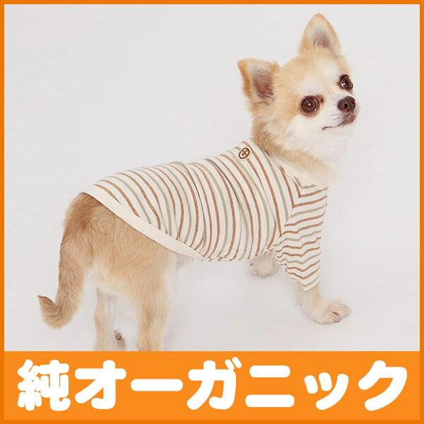 犬 服 天竺ボーダー半袖 Tシャツ 4-6号