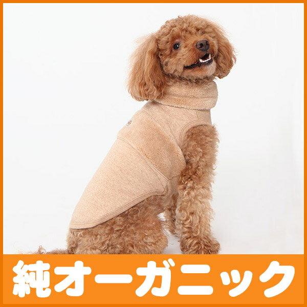 犬 服 ボア切替タートルネック ノースリーブ 4-6号
