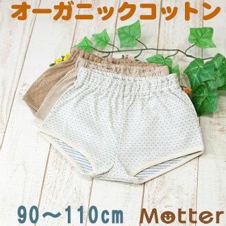 孩子儿童内衣 90 / 100 / 110 厘米) 特应性皮肤友好有机棉男孩裤子 & 孩子男孩短裤和树干