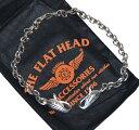 【中古】THE FLAT HEAD フラットヘッド EWC-50 イーグルヘッド シルバー ウォレットチェーン