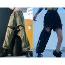「3日以内発送可能」パンツ ズボン ハイウエスト LOGO ロゴ 英字 ユニセックス 男女兼用 体型カバー 原宿系ファッショ…