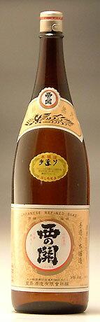 萱島(かやしま)酒造【大分の地酒】西の関(にしのせき)手造り本醸造酒 1,800ml【RCP】
