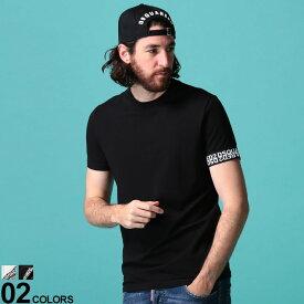 DSQUARED2 (ディースクエアード) 袖ロゴ クルーネック 半袖 アンダーシャツブランド メンズ 男性 トップス Tシャツ 半袖 シャツ インナー 春 夏 コットン アンダーウェア 肌着 D2D9X202970UD
