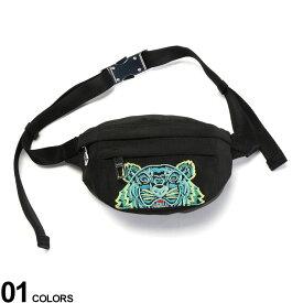 KENZO (ケンゾー) タイガー刺繍 ロゴ ミニ ボディバッグブランド メンズ 男性 バッグ 鞄 ボディバッグ ウエストポーチ 刺繍 ナイロンバッグ コンパクト ストリート KZLF965SF307F20