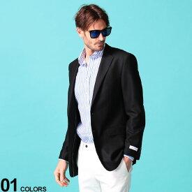 Calvin Klein (カルバン クライン) ストレッチ 無地 シングル 2ツボタン ブレザー SLIMFITブランド メンズ 男性 アウター ジャケット テーラード 無地 ストレッチ スリム フォーマル ビジカジ CKMANS17NX0061