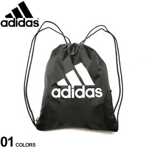 アディダス バッグ adidas ナップサック ジムバッグ ジムサック ジップポケット付き BIGロゴプリントメンズ 男性 小物 鞄 バッグ ナップサック リュック スポーツ トレーニング 学生 ジムサッ