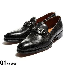Dino Draghi (ディーノ ドラーギ) レザー 型押し ビットローファーブランド メンズ 男性 シューズ 靴 ビジネスシューズ 革靴 レザー フォーマル ビジネス 紳士 黒 DD12205MIRKO