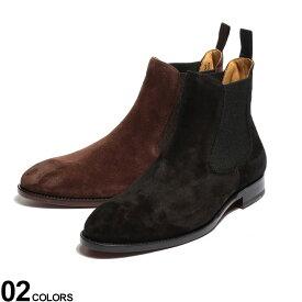 Cordwainer (コードウェイナー) スエード サイドゴア ショートブーツブランド メンズ 男性 シューズ 靴 ブーツ ショート ゴム 革靴 フォーマル シンプル 秋 冬 黒 レザーブーツ CW17051VENECIA
