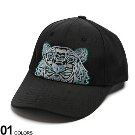 KENZO (ケンゾー) タイガー刺繍 マジックテープアジャスター キャップブランド メンズ 男性 帽子 キャップ ベースボールキャップ ロゴ 刺繍 ストリート 虎 KZFA65AC301F20