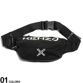 KENZO (ケンゾー) ロゴXプリント ジップ開き ベルトバッグブランド メンズ 男性 バッグ 鞄 ボディバッグ ウエストポーチ ロゴ プリント ストリート KZFA65SA221F21