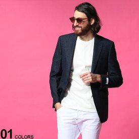 Calvin Klein (カルバンクライン) ウール混 ミニチェック シングル 2ツ釦 ジャケット SLIMFITブランド メンズ 男性 アウター ジャケット テーラード ウール スリム 秋 冬 フォーマル きれいめ CKMABRY7CXX093