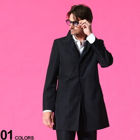 Calvin Klein (カルバンクライン) 無地 ボタン スタンドカラー コートブランド メンズ 男性 アウター コート ブルゾン ビジネス 紳士 シンプル フォーマル きれいめ CKMEXER