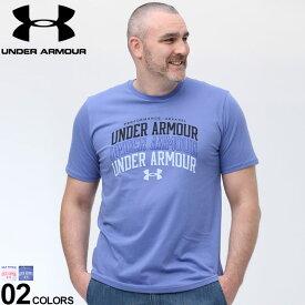 大きいサイズ メンズ UNDER ARMOUR (アンダーアーマー) heatgear LOOSE ロゴプリント クルーネック 半袖 Tシャツ Tシャツ クルー 半袖 ロゴ 春 夏 スポーツ トレーニング ゆったり 1361671D22