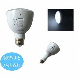 地震、災害対策に 停電の時、自動点灯する多機能電球 防災1台3役 LED 充電式 電球4個購入で送料無料 led 電球 26 led 電球色 led 昼白色