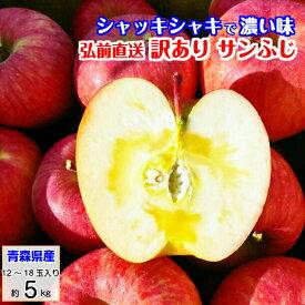 訳あり 青森 サンふじ 5kg 葉とらずりんご りんご フジ リンゴ 富士 林檎 富士 冨士 送料無料