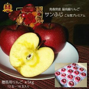 りんご 贈答用 最高級 青森県産 送料無料 サンふじ 5kg 葉とらずりんご フジ リンゴ 富士 林檎 お歳暮 お年賀 ギフト