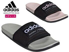 アディダス【adidas】ADILETTE ECO ADILETTE ECO ピンク ホワイト black PINK FZ1700_1701レディース/PRIMEGREEN/エコ/サンダル/シャワサン/シャワーサンダル/スポーティ/履きやすい/軽量/快適/新作【10%OFF】