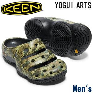 キーン【KEEN】 YOGUI ARTS ヨギアーツ 1002034 メンズ ハイパフォーマンスクロッグ サンダル CAMO GREEN カモグリーン 超軽量/プリント/緑/カモフラ/迷彩/リラックスシューズ/カジュアル/デ