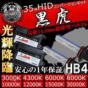 HIDキット 黒虎 HB4 35W 3000Kイエロー・4300K・6000K・8000K・10000K・12000K・15000K・30000Kから選択可 最...