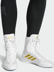 アディダス adidas Box Hog 2 プラス ボクシングシューズ (ホワイト・ゴールド) //アディダス リングシューズ シューズ ジム ボクシング フィットネス ボクササイズ トレーニング 送料無料
