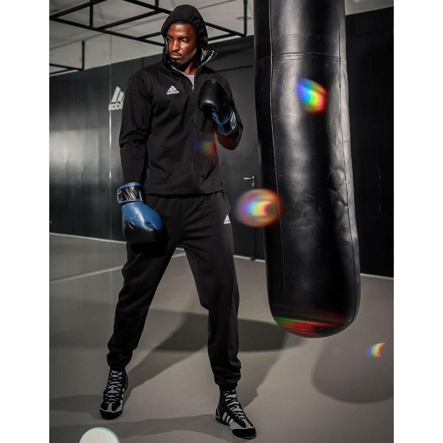 adidas シルバーハイロン サウナスーツ (上下セット)//アディダス 減量 ダイエット ボクササイズ フィットネス トレーニング ウェア エムワールド mworld
